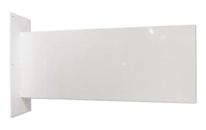 Vit väggskylt, 100 x 40 cm